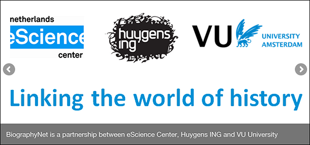 BiographyNet a collaboration between the Netherlands eScience Center, Huygens ING and VU University Amsterdam