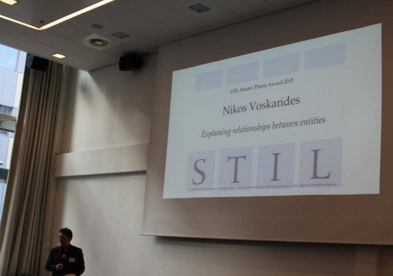 STIL Thesis Prize awarded to Nikos Voskarides