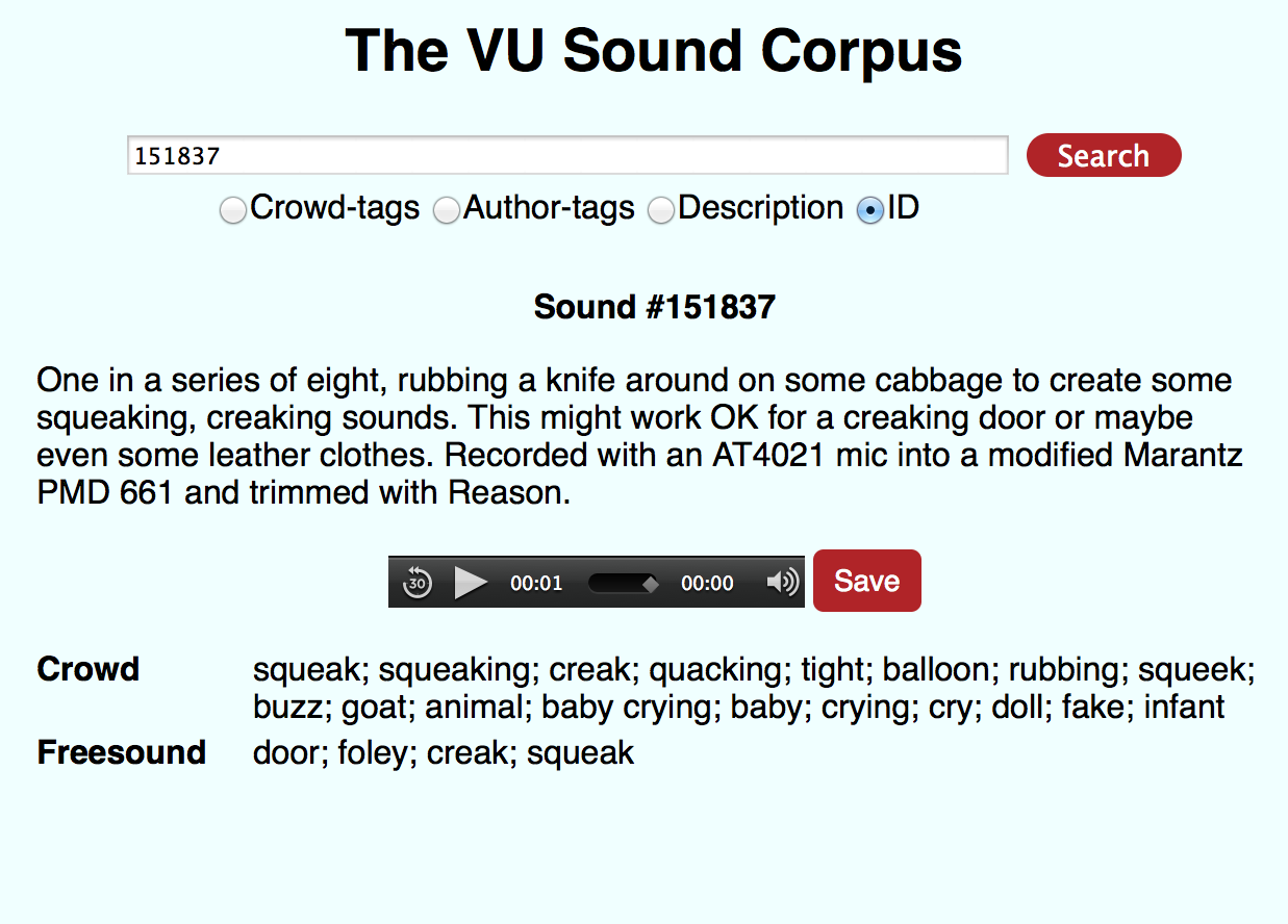 The VU Sound Corpus
